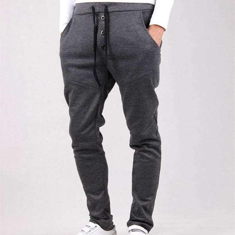 97b2a14f5a35a Compre Al Por Mayor 2016 Nuevos Hombres Pantalones Harem Hip Hop Jogger  Pants Hombres Track Sweatpants Outwear Pantalones De Culturismo Slim Fit  Mens ...