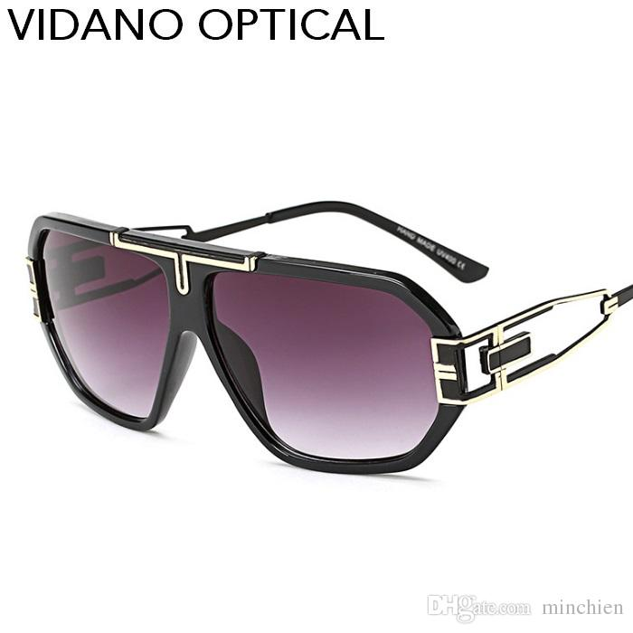 3db119a994 Vidano Optical New Arrival European Fashion Big Pilot Sunglasses For ...