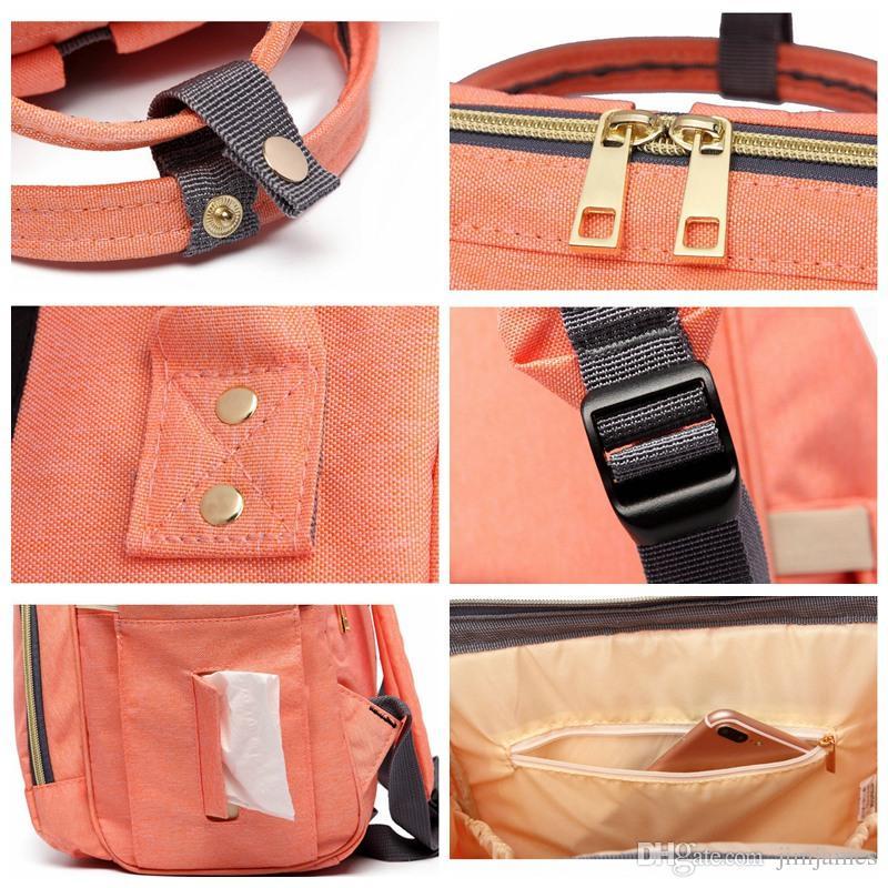 Mamá bolsa de pañales de maternidad bolsa de bebé de gran capacidad mochila de viaje desiger bolsa de enfermería para el cuidado del bebé bolsas de pañales