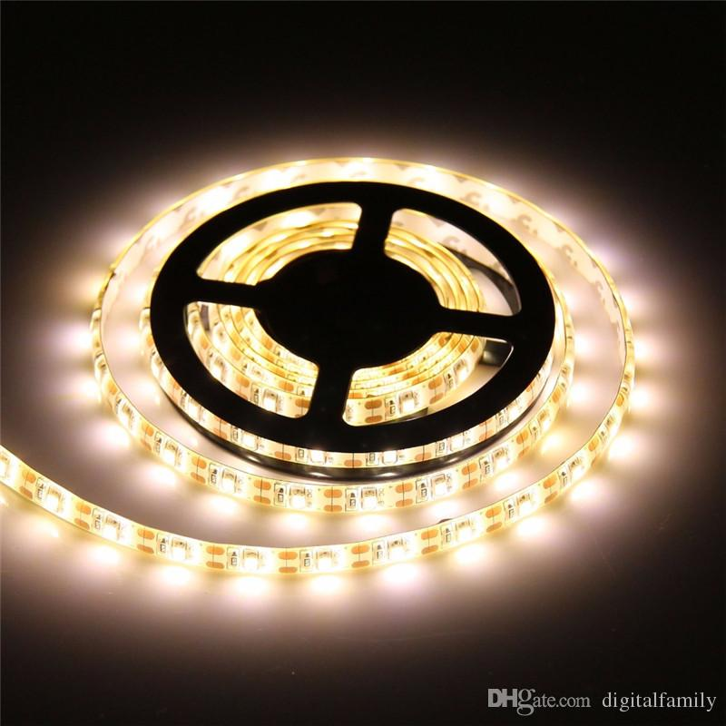 5m 3528 luz de tira de LED RGB 5m impermeable LED Strip SMD3528 + 24key IR control remoto