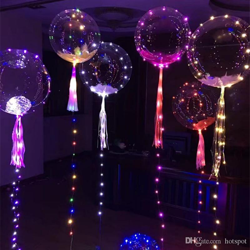 Bobo Balloon Decorations Led Light Christmas Ornaments Wedding Centerpieces 3 Meters Line For Party Supplies Toddler