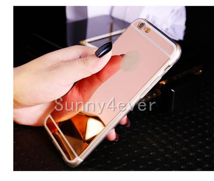 Luxury Mirror Flash TPU Case For iPhone 7 6 6S Plus 5s SE Ultra-thin Clear Phone cover