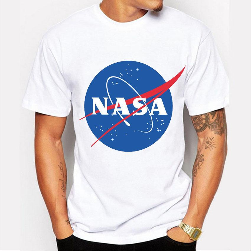 Fashion Nasa Print T Shirt Men Short Sleeve T Shirt Male ...