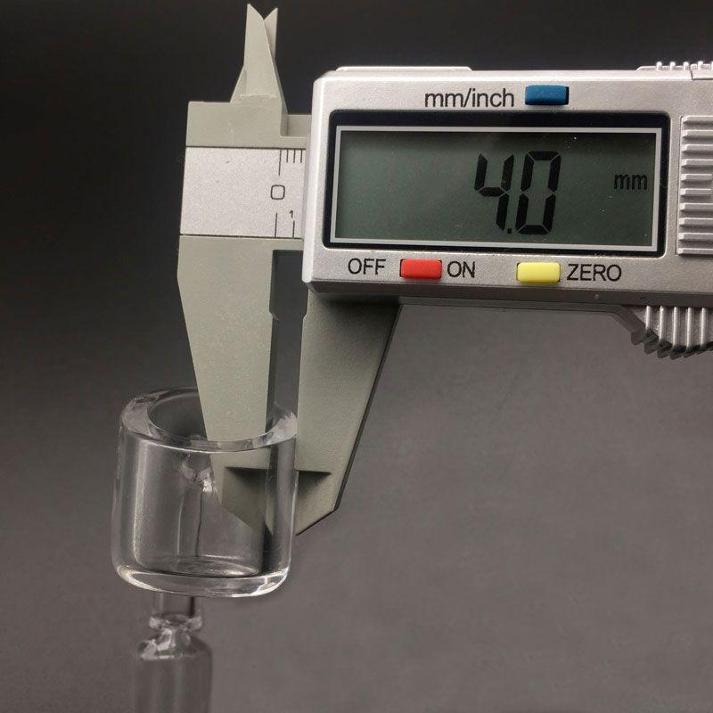 4mm Grueso XL 25mm OD 100% Real Cuarzo Banger Nail 10mm 14mm 18mm Mujer Hombre 45/90 Grados Domeless Quartz Banger Nail