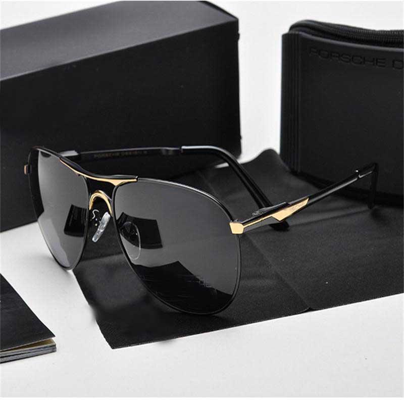 505afdbede Compre Gafas De Sol Polarizadas De Alta Calidad Para Hombres Nuevas Gafas  De Sol De Diseñador De Marca Con Gafas De Marco Cuadrado Negro Gafas De Sol  De ...