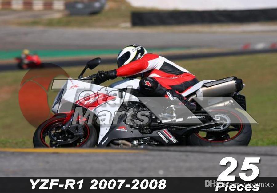 Ajustement de carénage pour Yamaha YZF R1 R 1 YZF-R1 YZFR1 07 08 2007 2008 Injection Blanc FA8716 Rouge FA8717 Noir FA8724