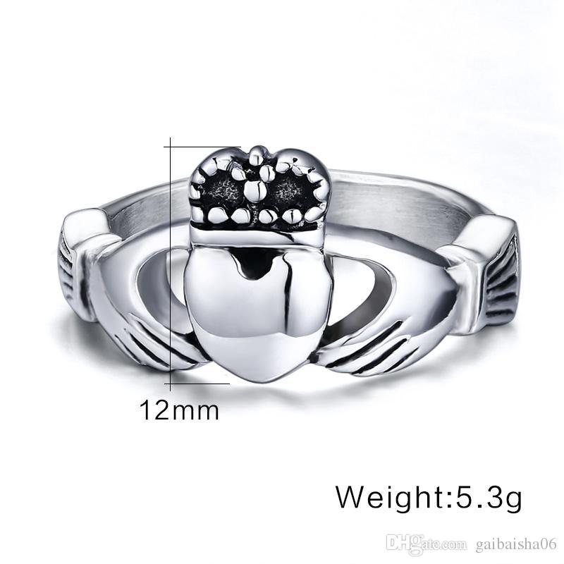 Мода Обручальные кольца Винтаж Кладдаг Обручальное кольцо для женщин с моими руками Я даю тебе свое сердце