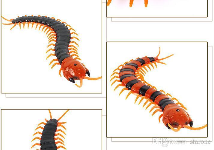 Atacado Centípede RC Centopeia Inseto Falsificado Centopéia de Controle Remoto Criativo Elétrico Animal Prank Toys Tricky Engraçado Presentes para Crianças