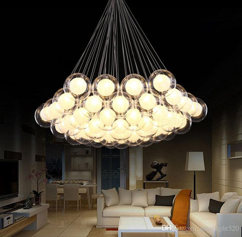 Modern led glass ball pendant lights led ball bubble chandelier modern led glass ball pendant lights led ball bubble chandelier pendant lamp ceiling lights with g4 bulb track lighting pendant hanging lights online from mozeypictures Images