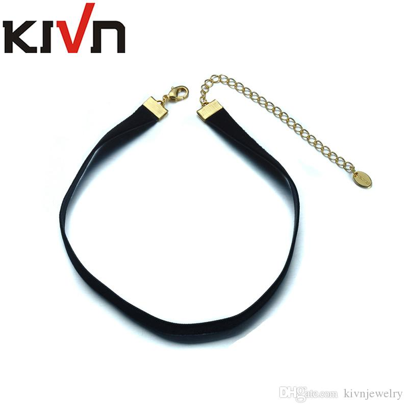 9611cb3c25d7b KIVN Fashion Jewelry Black Retro Gothic Punk Choker Collar Necklaces for  Women Christmas Birthday Promotion Gifts