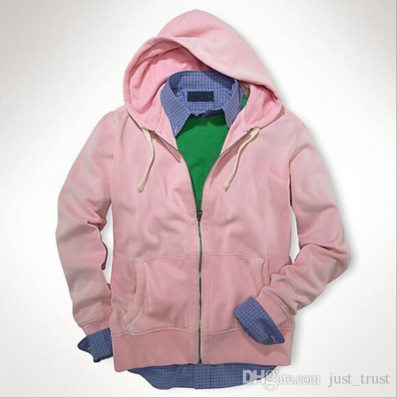 Hot sales Autumn warm men pony Golf casual men POLO hoodies cotton zipper sports Sweatshirts US style men cardigan pullover