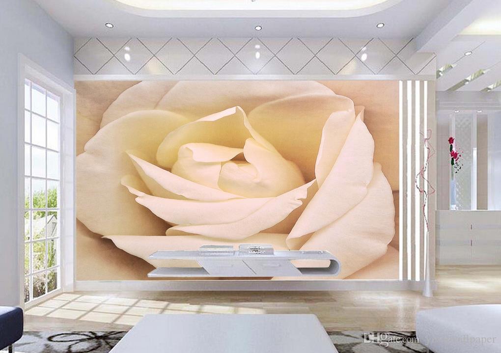 HD-romantische Rosen-Fresko Hintergrund Tapeten 3D Wallpaper 3D-Tapeten für tv Hintergrund