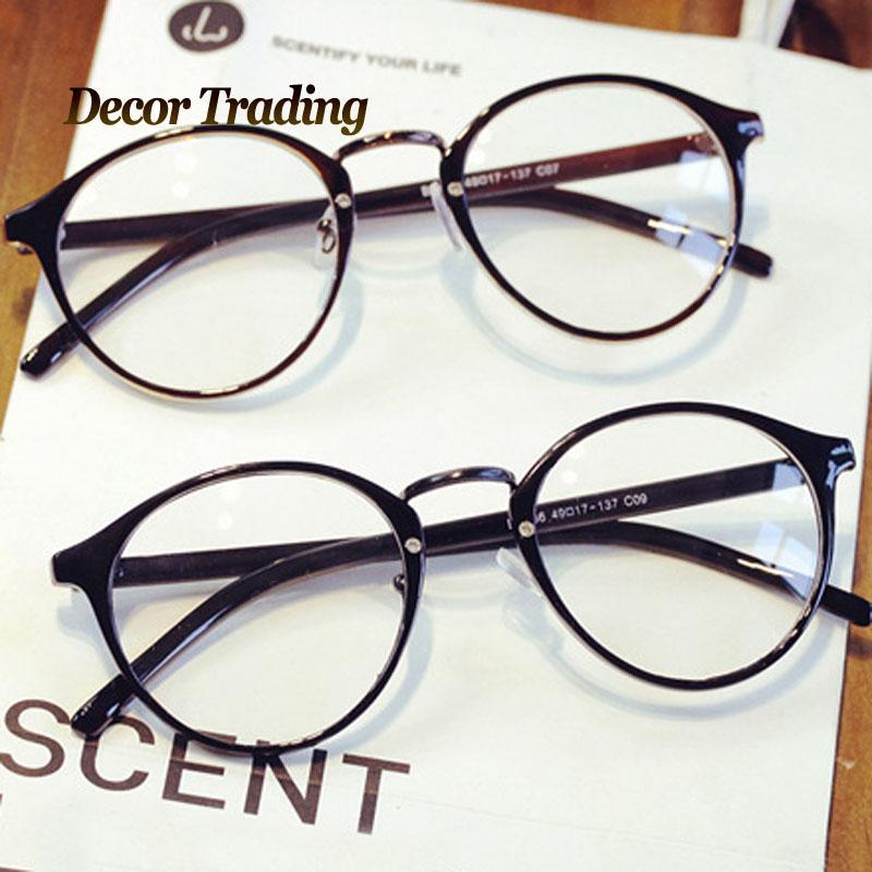 3ec36fa601 2019 Wholesale Ultra Light Vintage Brand Design Big Round Glasses Frame  Eyewear Frames Optical Eye Glasses Eyeglsses Frames For Women Men 066 From  Heheda1