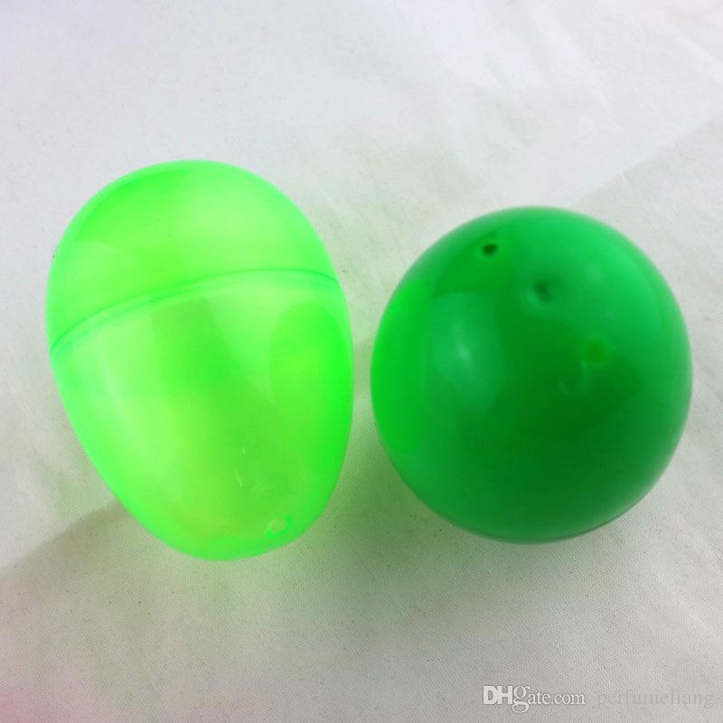 6.5 * 4.8 سنتيمتر بيض عيد الفصح الملونة diy الديكور للأطفال البلاستيك الشفاف بيضة عيد الفصح هدية شحن مجاني ZA3996