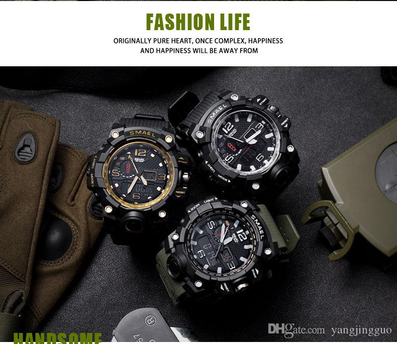 Smale's new watch genuine fashion sport multi-function LED electronic watch waterproof alarm clock couple watch free delivery