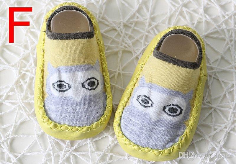 Ins Fuchs Kinder Frühling New Cartoon Anti Slip Erste Wanderer Boden Socken Baumwolle Babyschuhe Rutschfeste Kleinkind Socken Baby Boden Socken 6farbenfrei