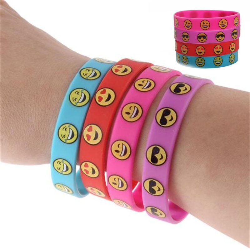 Silicone Bracelet Emoji Party Supplies Emoticon Smile Toy Novelty