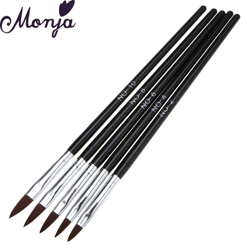Wholesale- 5pcs Nail ATools Set Crystal Tips Acrylic UV Gel Builder 3D Design Painting Drawing Carved Brushes Pen kits DIY tools