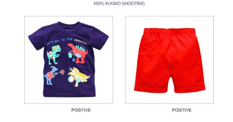 Compre Nuevas Prendas De Vestir Para Niños Verano Chico Camisa De Manga Corta Pantalones Cortos Traje De Dos Piezas Conjunto De Niño De Algodón 6