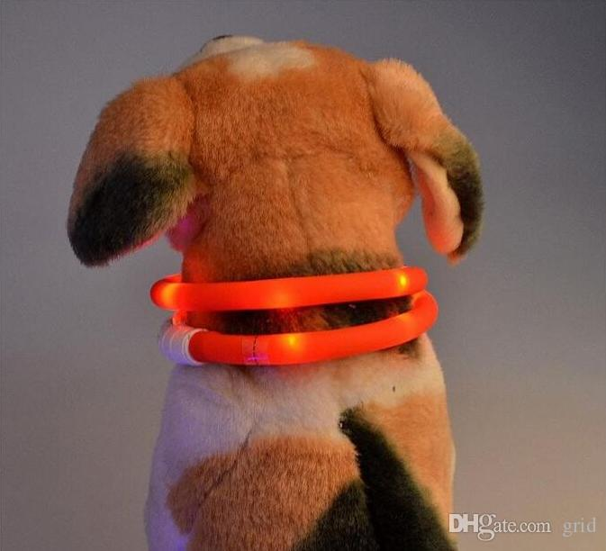 Newest Cut USB Charge Dog Training Collar Outdoor LED Luminous Charger Pet Dog LED Light Adjustable Collars LED Flashing Dog Collar