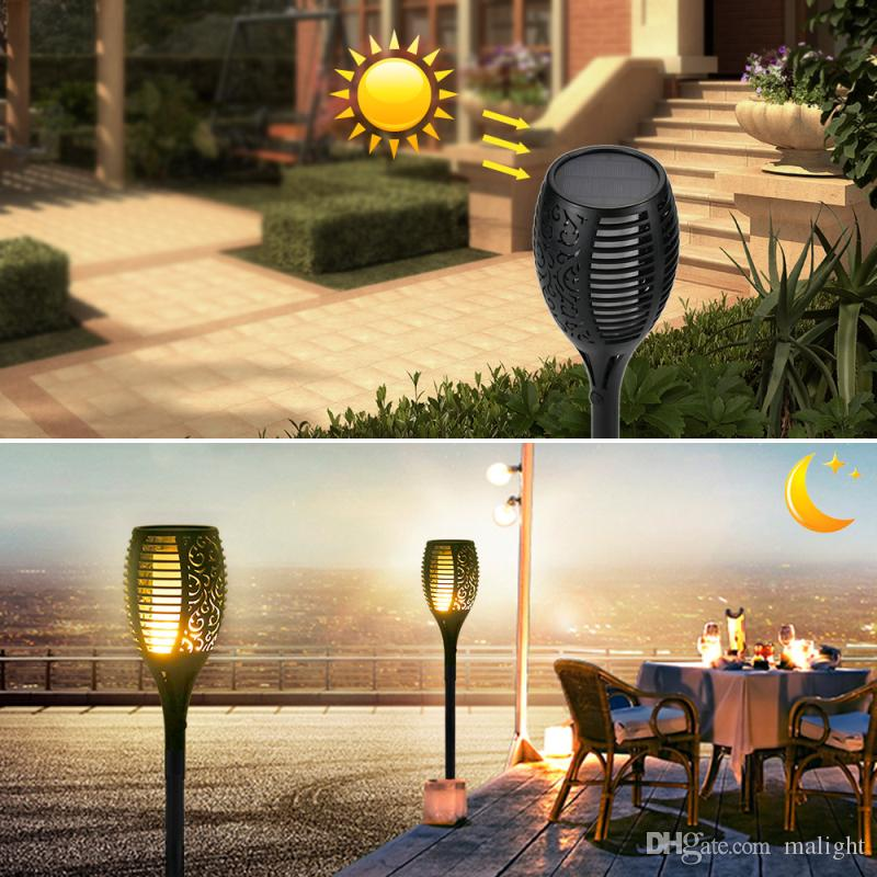 2018 Solar Lights, Waterproof Flickering Flames Torches Lights Outdoor  Landscape Decoration Lighting Dusk To Dawn Auto On/Off Security Torch Ligh  From ...