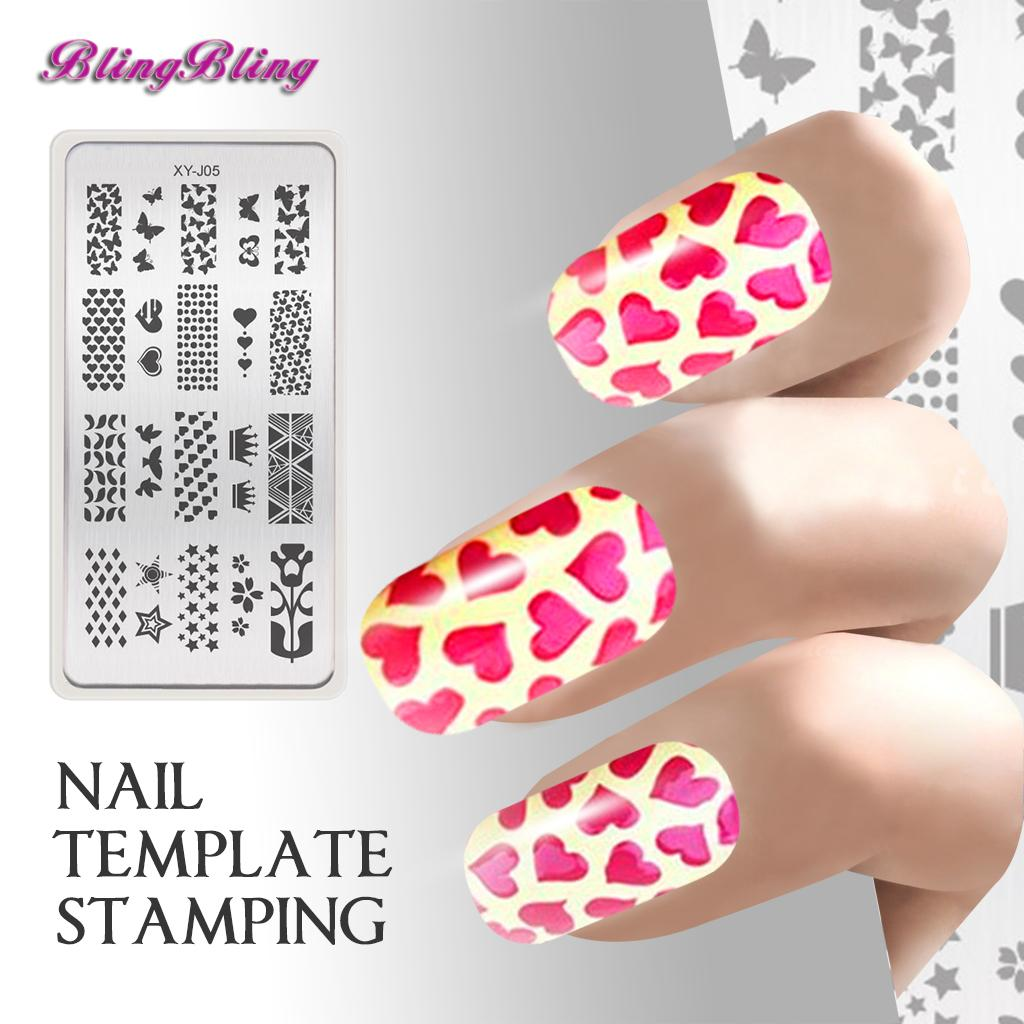 Wholesale Beauty Diy Nail Art Template Stamping Multi Nail Polish ...