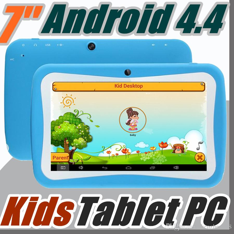Cheap 2018 7 Inch Quad Core Children Kids Tablet PC 8GB RK3126 Android 44 MID Dual Cam Educational Games App Birthday Gift G 7PB Best Pc Laptops Pcs