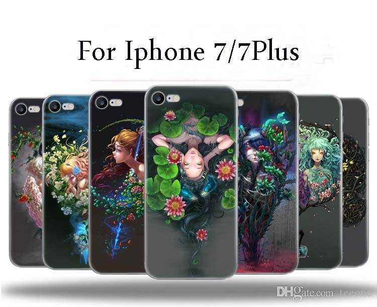 Für Iphone 7 7Plus Constellation-Fall-weiche Handy-Fall der Qualitäts-TPU Creative Arts All Inclusive-Kästen für Iphone 7 7Plus