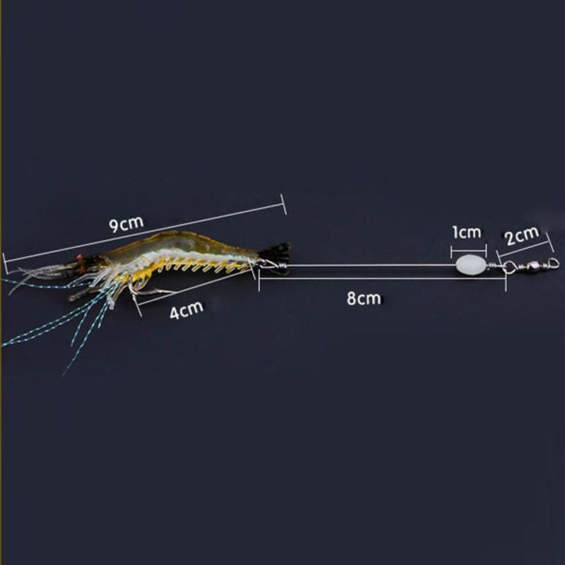 90 미리 메터 7 그램 부드러운 시뮬레이션 새우 새우 낚시 부동 모양의 미끼 후크 미끼 생체 인공 새우 미끼 후크 10 개 2508037
