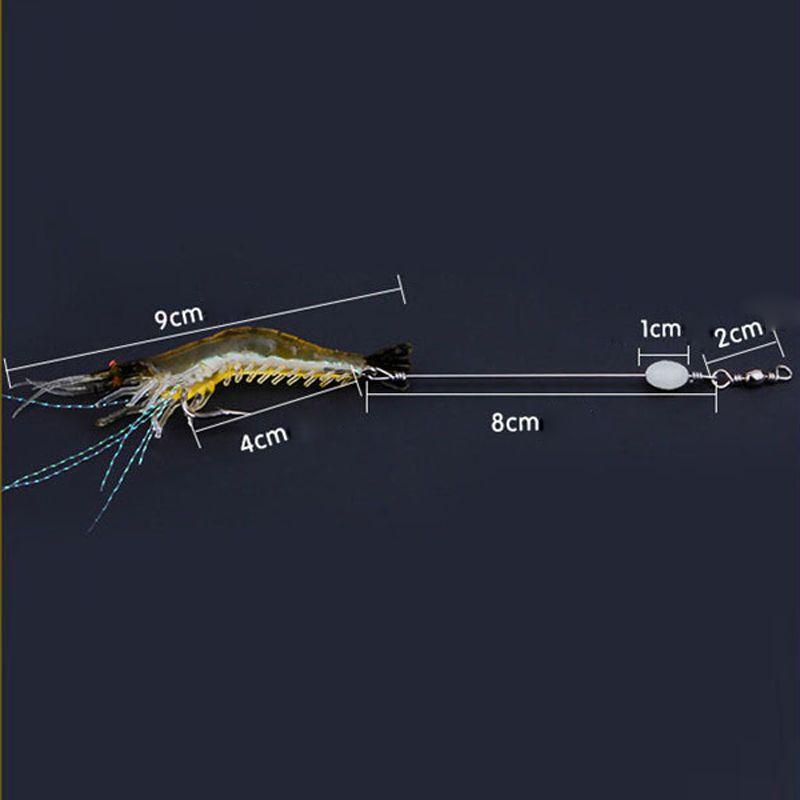 90mm 7g Weiche Simulation Garnelen Fischen Schwimm Shaped Köder Haken Köder Bionic Künstliche Garnelen Köder mit Haken 10 stücke 2508037
