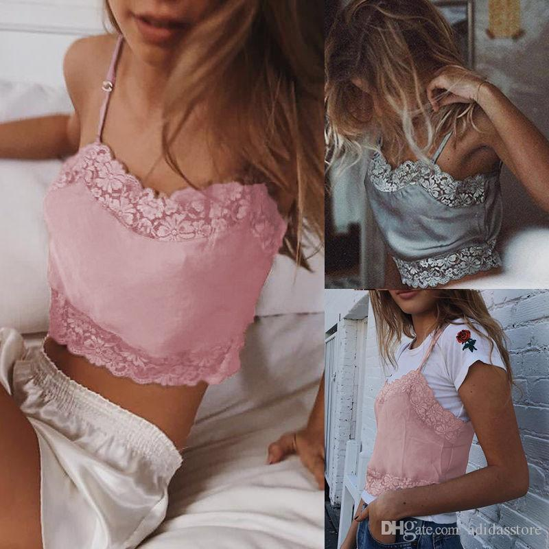 c6d5170176 Women Ladies Clothes Tops Lace Floral Bralette Bralet Bra Bustier  Sleeveless Crop Top Cami Unpadded Tank UK Online with  14.38 Piece on  Adidasstore s Store ...