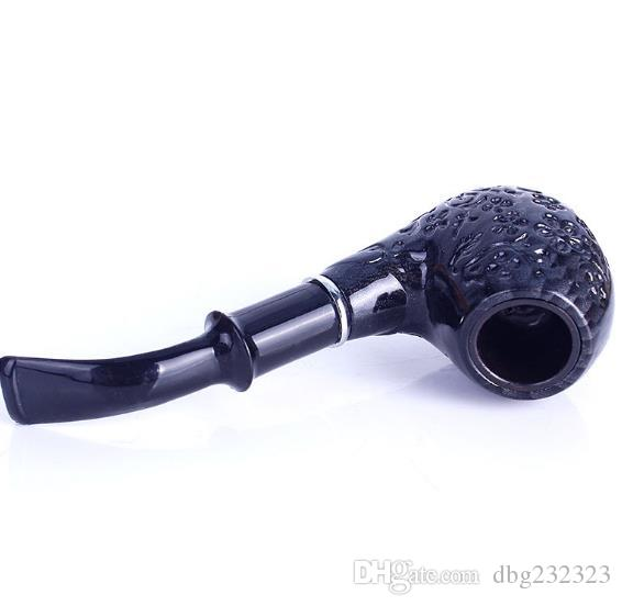 Engraved new curved hammer freestyle portable smoking machine engraving resin removable cleaning filter pipe