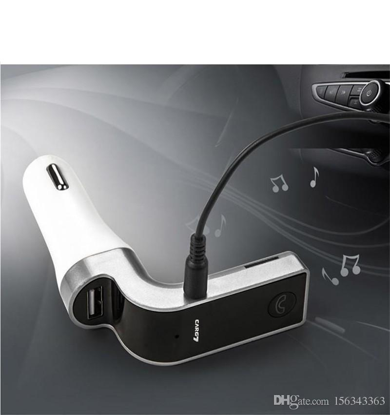 1x G7 Smartphone Bluetooth MP3 Player Handfree FM Transmitter Car Charger Kit + USB 2.1A + Hands-free Support Micro SD/TF Answer the phone