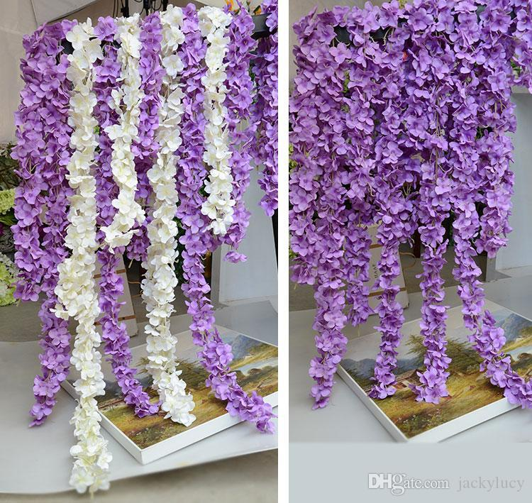 2019 Artificial Hydrangea Wisteria Flower Diy Simulation