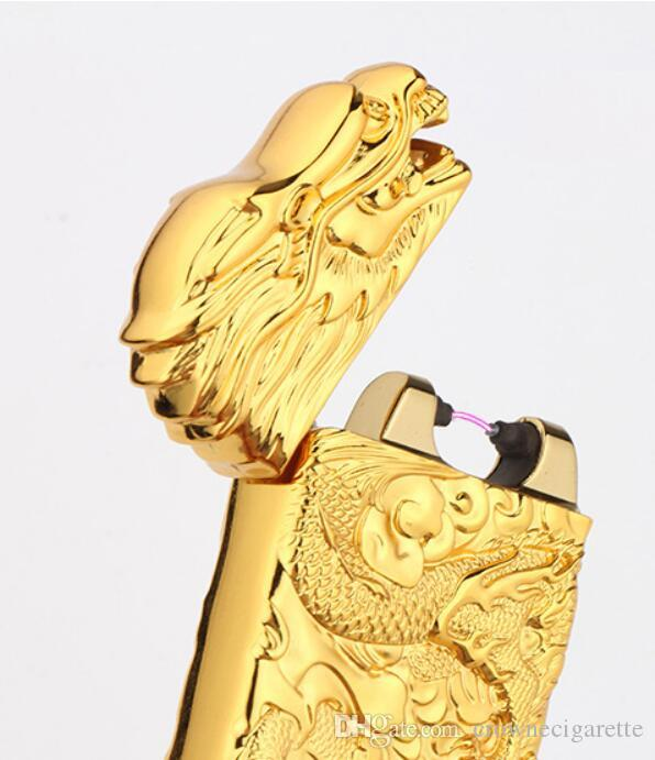 Super Electric Dragon Shake USB ARC PULSE LIGHTER Rechargeable Flameless G-sensor TOP