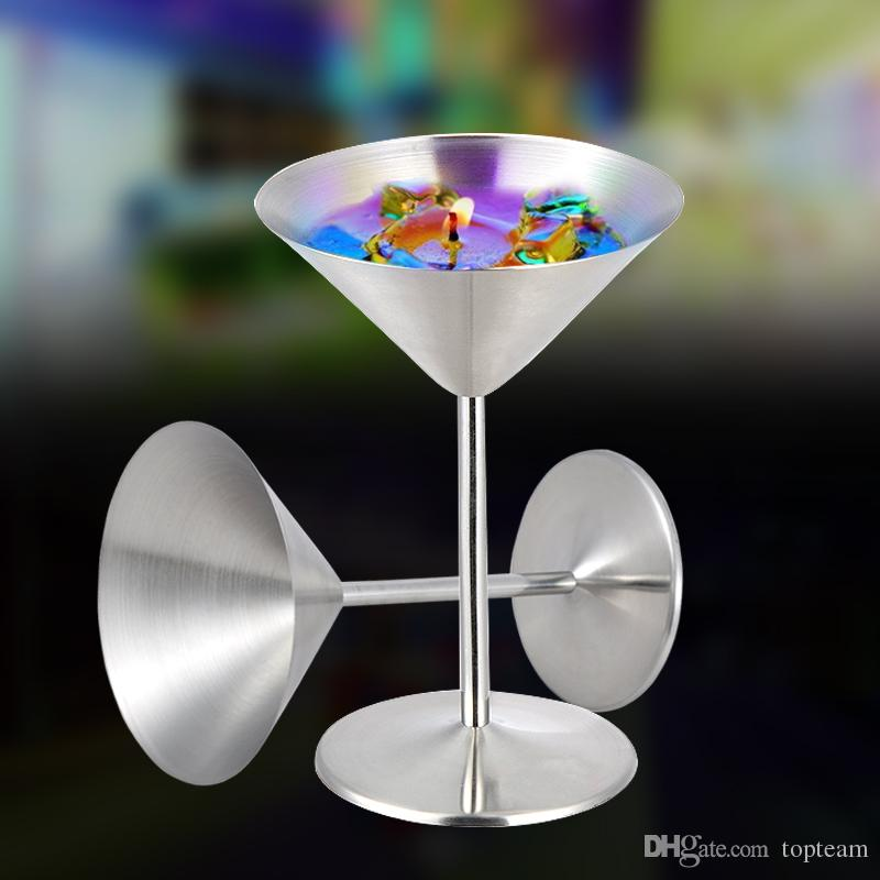 eb541131065 2019 Cocktail Glass Cup Stainless Steel Wine Cup Hanap Wine Glass Martini  Champagne Cup Goblet Bar Tools Mugs For Party Fashion Design From Topteam