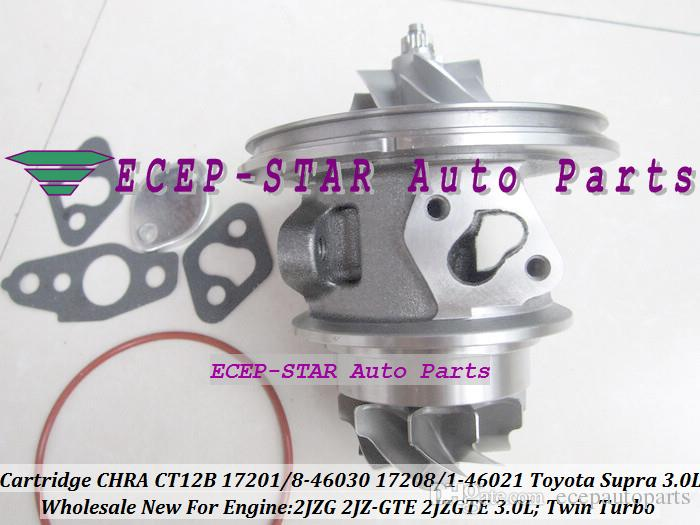 one Twin Turbo Cartridge CHRA Core CT12B 17208-46030 17208-46021 17201-46021 17201-46030 For TOYOTA Supra 1993- 2JZ-GTE 2JZGTE 3.0L
