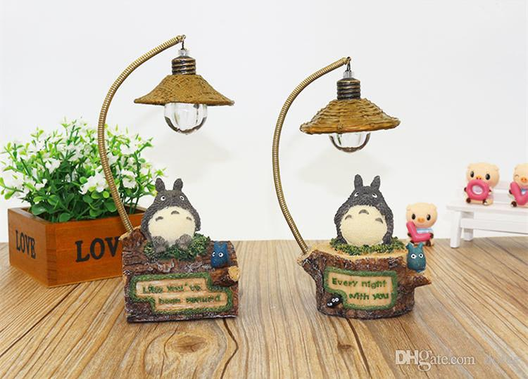 2018 Kawaii Cartoon My Neighbor Totoro Lamp Led Night Light Abs ...
