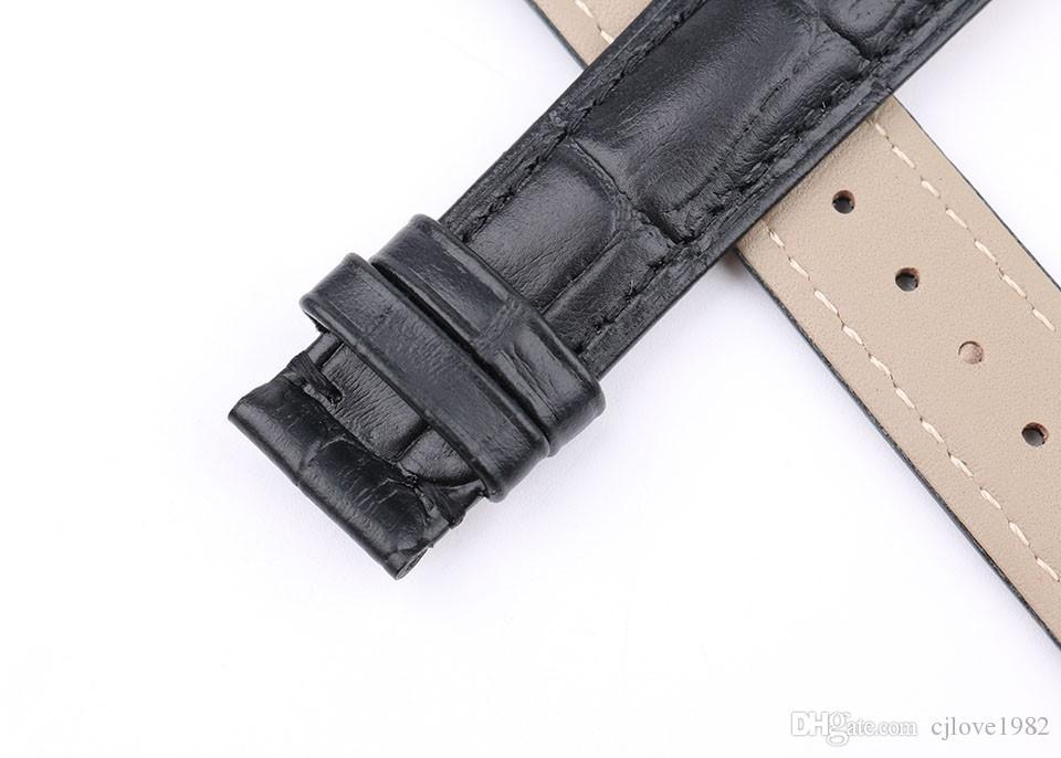 Correas de reloj de cuero genuino Correa de reloj de alta calidad de 16 mm para hombres y mujeres Marrón Negro Azul Correa de reloj vintage