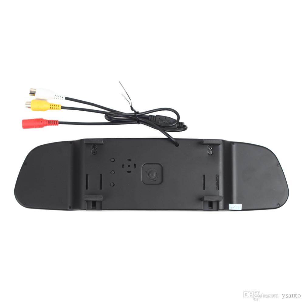 4.3 Inç Araba Monitör PZ705 2 Yollu Video Girişi Araba Dikiz TFT LCD Kontrast Oranı 350: 1 Ücretsiz Post