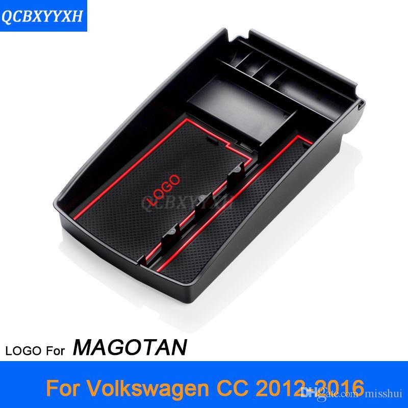 Для VW CC Magotan Tiguan 2010-2017 LHD Автоцентр Консоль Подлокотник Ящик Для Хранения Чехлы Украшение Интерьера Авто Аксессуары