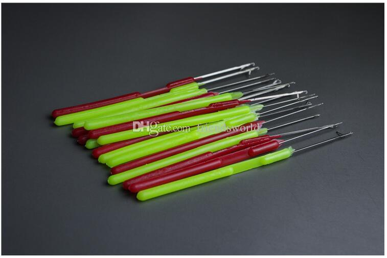 Plastic Handle Pulling Needle,Micro Rings/Loop Needle Hair Extensions Tools DHL FEDEX SF