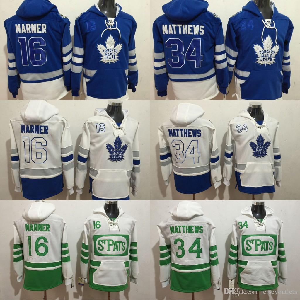 wholesale dealer 6f497 802b9 Toronto Maple Leafs hoodie 34 16 Mitch Marner 29 William Nylande 100th 2017  Centennial Classic ST Pats hockey Jersey stitch