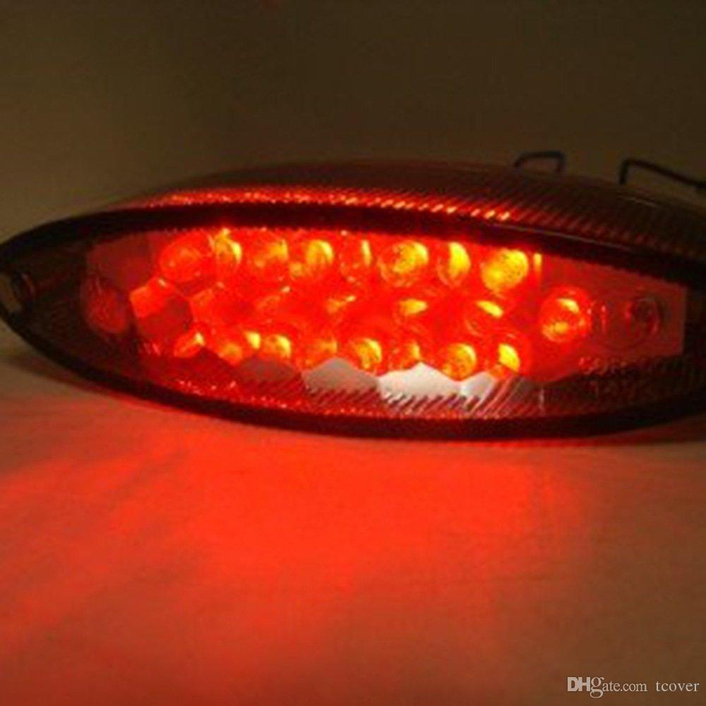 ZOOKOTO Smoke LED Tail Rear Brake Light License Plate Taillight For Yamaha Banshee Warrior YFZ WR Motorcycle ATV
