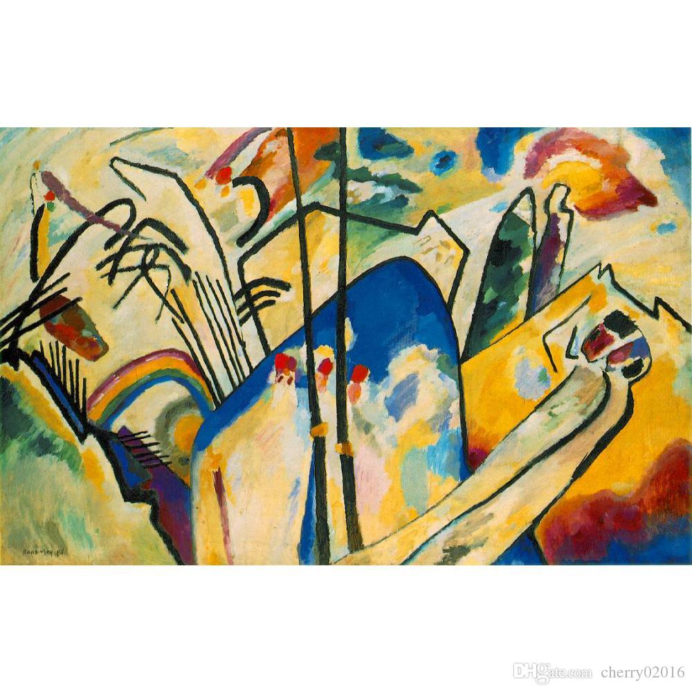 2018 Modern Abstract Art Wassily Kandinsky Oil Paintings Canvas ...