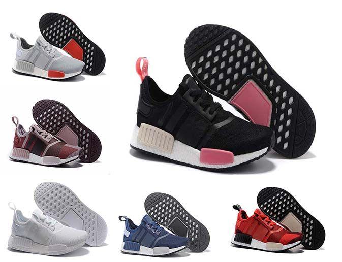 faac4cd2a836 NMD Runner R1 Mesh White Black Branch Purple City Pack Men Women Running  Shoes Sneaker Originals Primeknit Fashion Brand NMDs Runner Dress Shoes For  Men ...