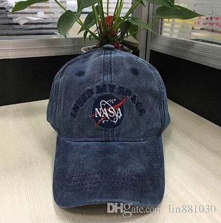 e924e261567 Fashion Rare I NEED MY SPACE NASA Meat Ball 6 God Embroidered Cotton Dad Hat  Snapback Baseball Cap I Feel Like Pablo Hat Bone Casquette Hats For Men  Hatland ...