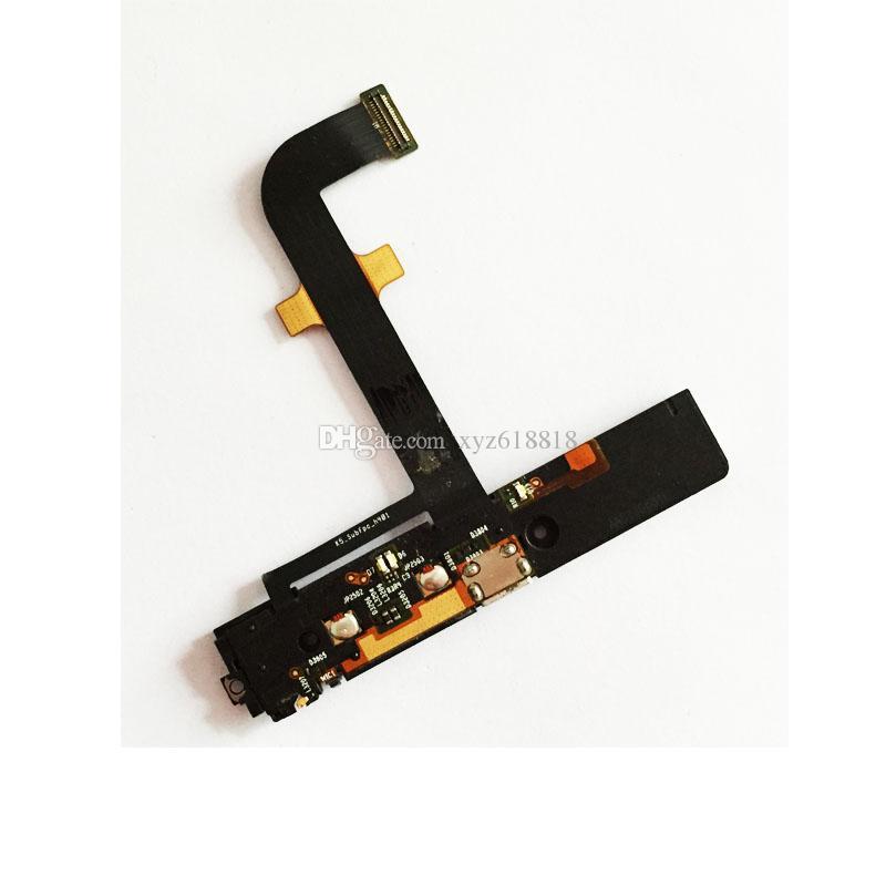 K900 Chargeur Port Buzzer Pour Lenovo K900 Chargeur Port Conseil Flex Câble Mic USB Ruban Pièces De Rechange Dock Connector Livraison Gratuite