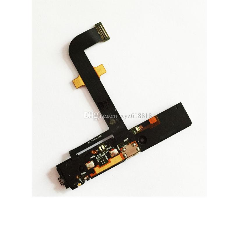 K900 Charging Port Buzzer For Lenovo K900 Charger Port Board Flex Cable Mic  USB Ribbon Replacement Parts Dock Connector Free Shipping