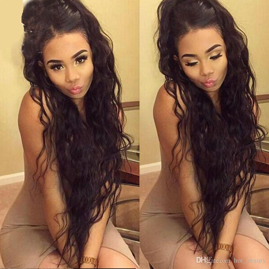 Su Dalga Ön Dantel Peruk Tam Dantel İnsan Saç Peruk Siyah Kadınlar Için brezilyalı Peruk Islak Ve Dalgalı Dantel Ön İnsan Saç Peruk